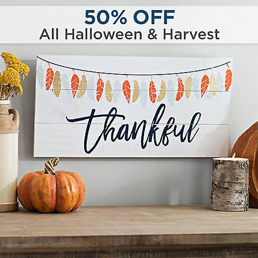 50% Off All Halloween & Harvest