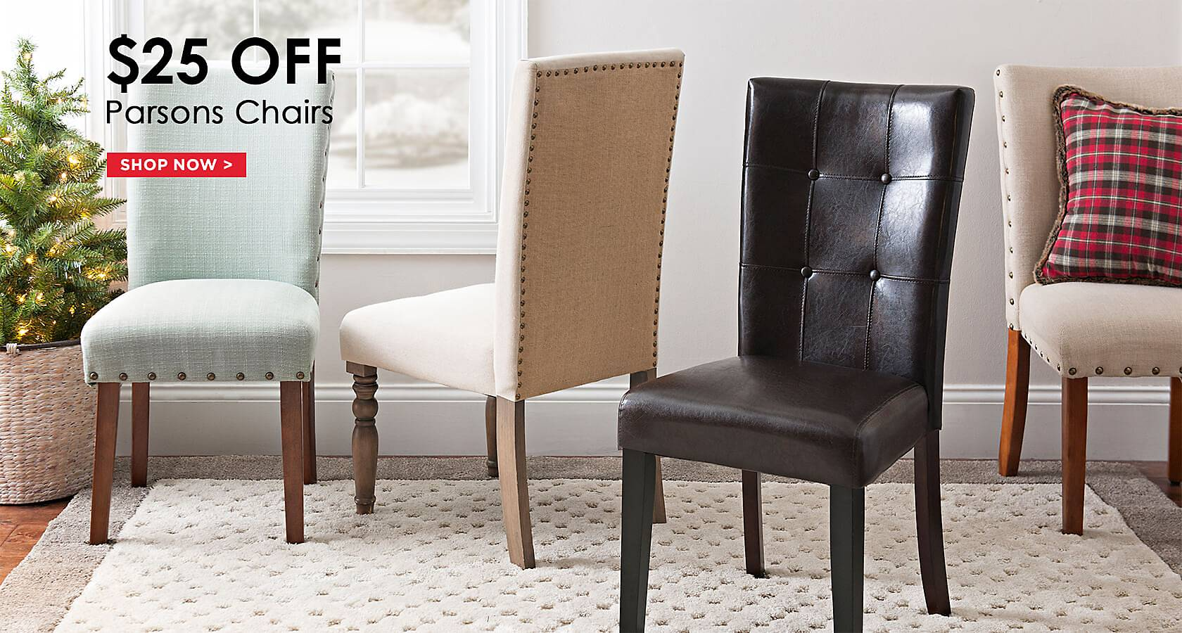 Furniture And Home Decor Part - 15: $25 Off Parsons Chairs - Shop Now