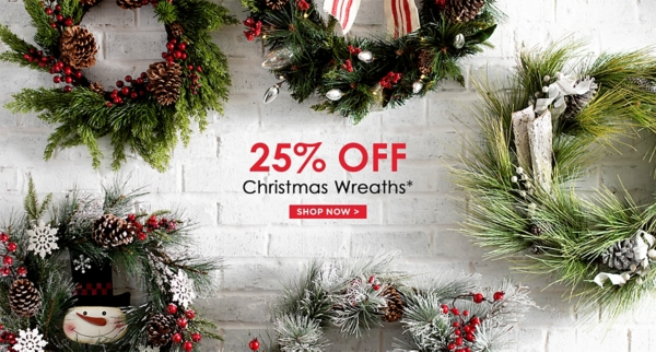 25% Off Christmas Wreaths - Some exclusions apply online - Shop Now