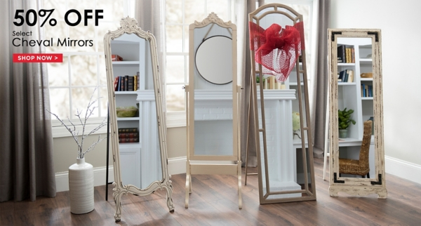 50% Off Select Cheval Mirrors - Shop Now