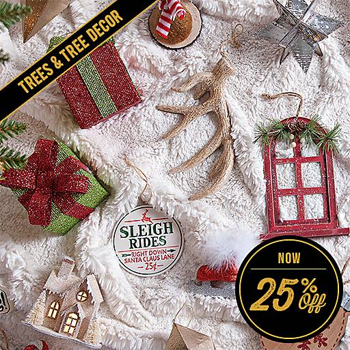 25% Off Trees & Tree Decor