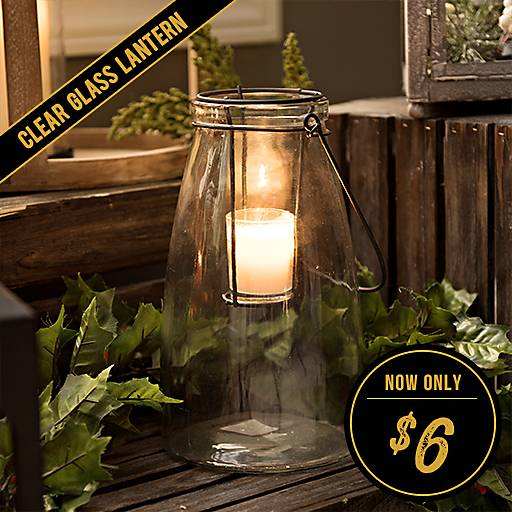 Clear Glass Lantern Now $6
