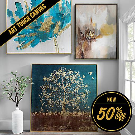 50% Off Art Touch Canvas Collection