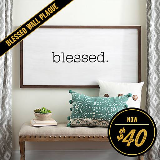 Blessed Wooden Board Wall Plaque Now $40