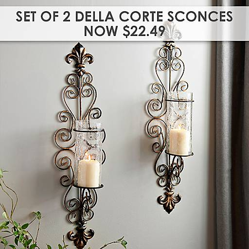 Set of 2 Della Corte Sconces Now $22.49