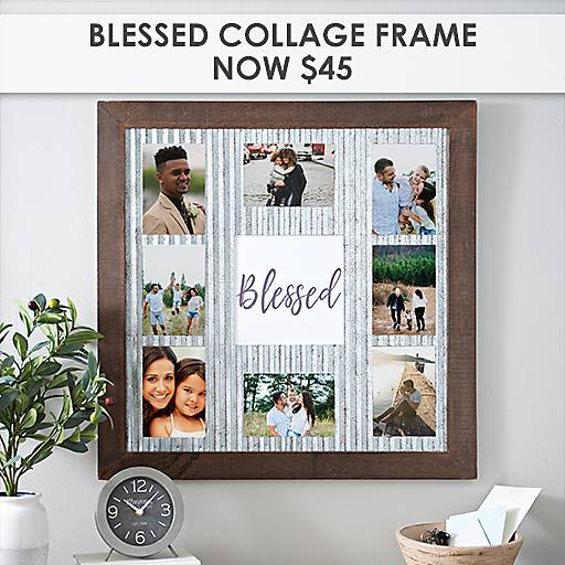 Blessed Collage Frame Now $45