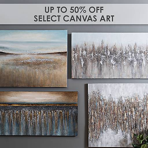 Up to 50% Off Select Canvas Art