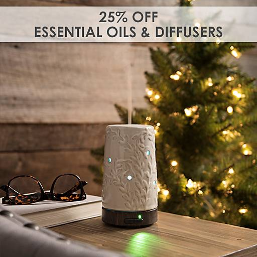 25% Off Essential Oils & Diffusers