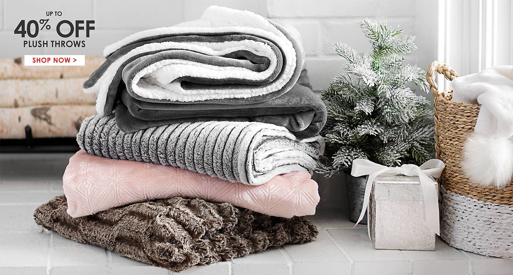 up to 40% Off Throws  - Shop Now