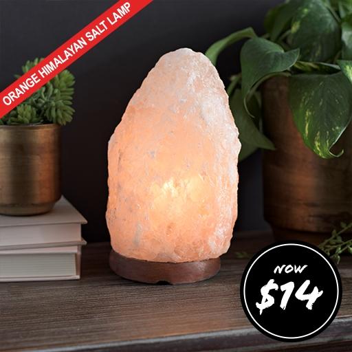 Natural Orange Himalayan Salt Lamp Now $14