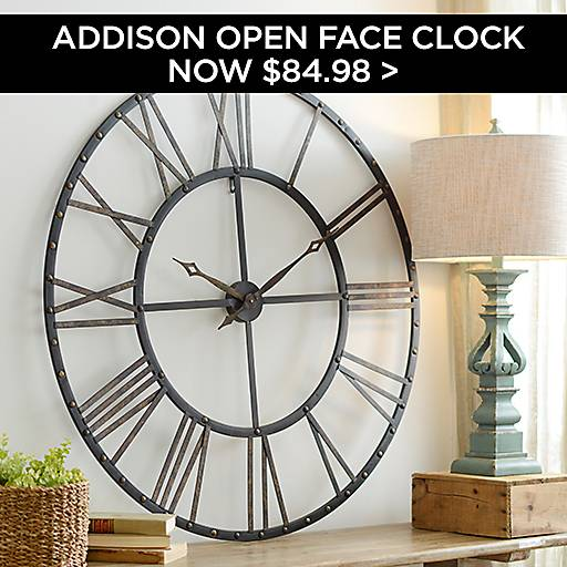 Addison Open Face Clock Now $84.98