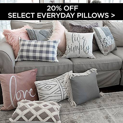 20% Off Select Everyday Pillows