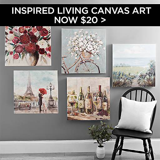 Inspired Living Canvas Art Now $20