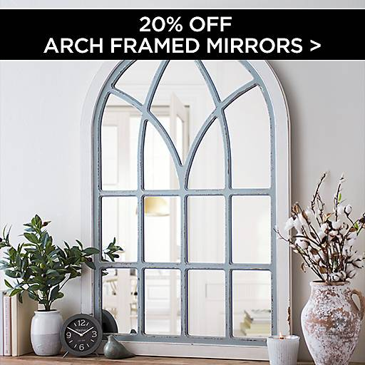 20% Off Arch Framed Mirrors