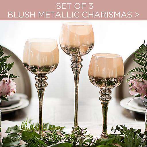 Set of 3 Blush Metallic Charismas