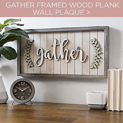 Gather Framed Wood Plank Wall Plaque