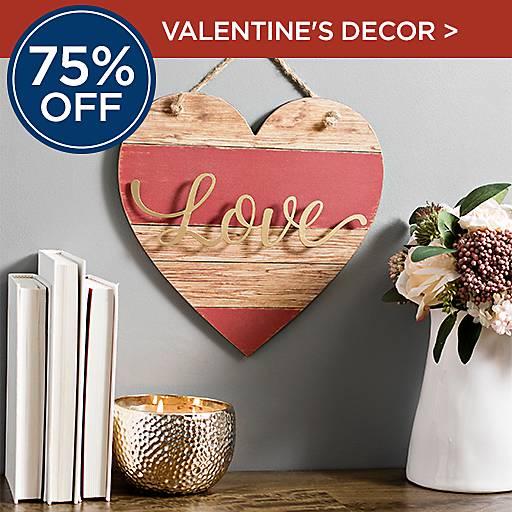 75% Off Valentine's Decor