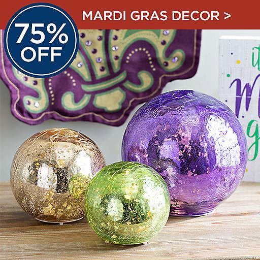 75% Off Mardi Gras Decor