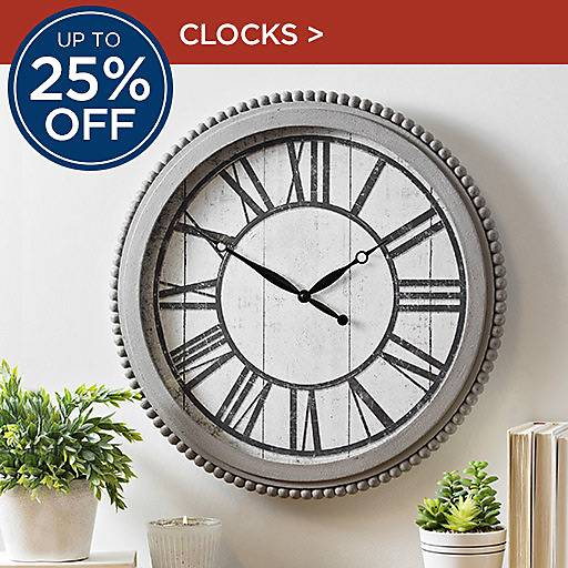 Up to 20% Off Clocks