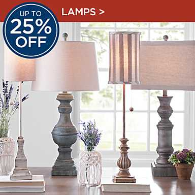 Up to 25% Off Lamps