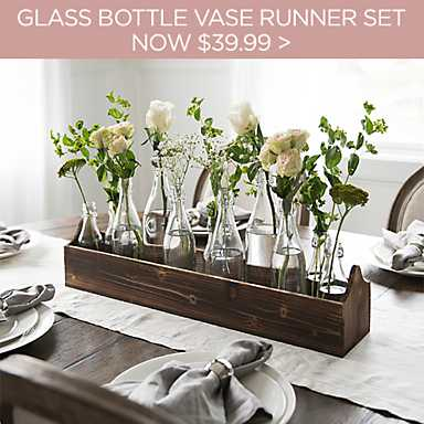 Glass Bottle Vase Runner Set - Now $39.99