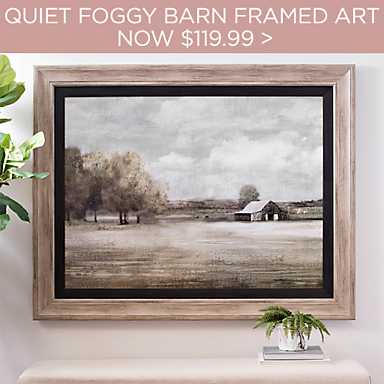 Quiet Foggy Barn Framed Art Print - Now $119.99