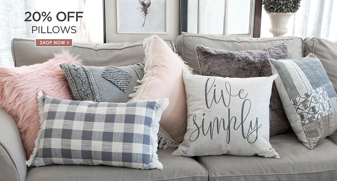 20% off Pillows - Shop Now