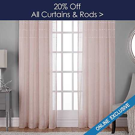 20% off All Curtains and Rods - Online Only - Shop Now