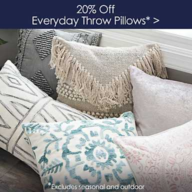 20% off Everyday Throw Pillows - Excludes seasonal and outdoor