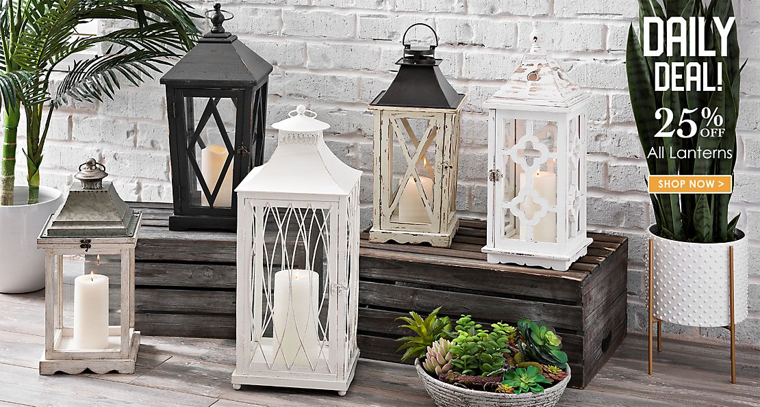 Daily Deal - 25% off All Lanterns - Shop Now