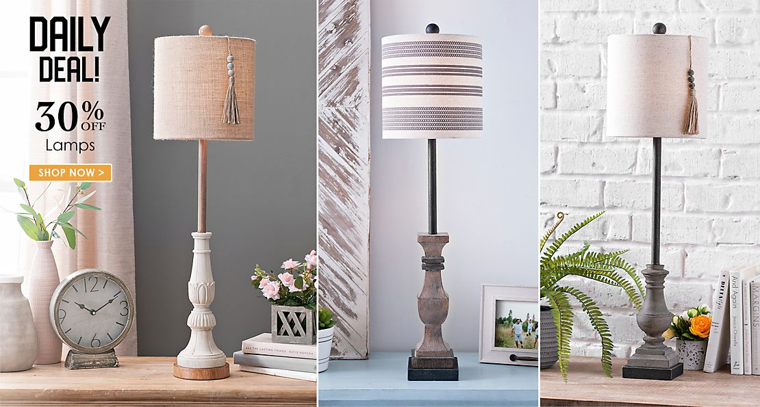 Daily Deal - 30% off Lamps - Shop Now