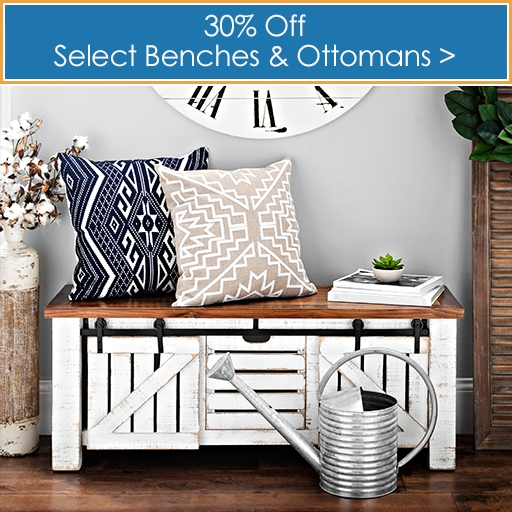 Select Benches and Ottomans 30% off  - Shop Now
