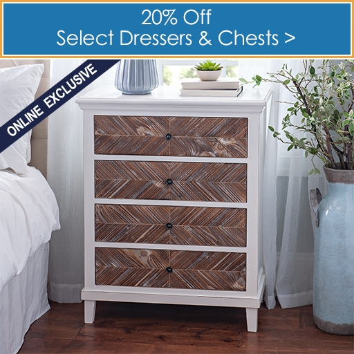 Select Dressers and Chests 20% off - Online Only - Shop Now