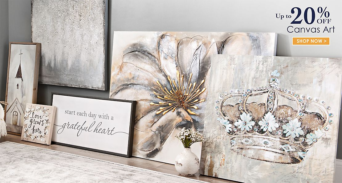 Up to 20% off Canvas Art - Shop Now