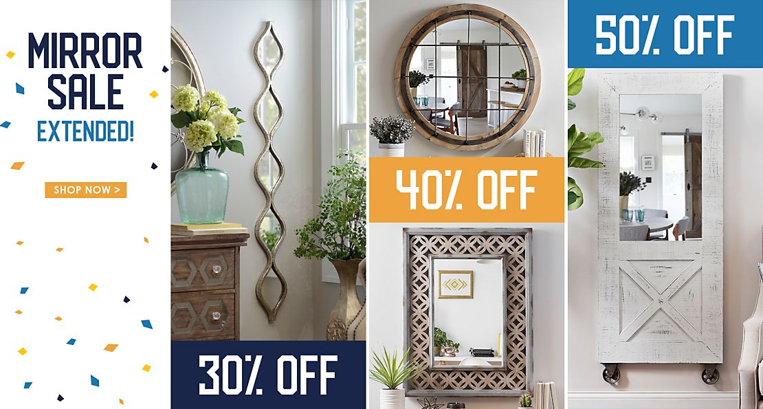 Mirror Sale Extended! - Save up to 50% off - Shop Now