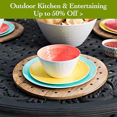 Outdoor kitchen and entertaining up to 50% off - shop now