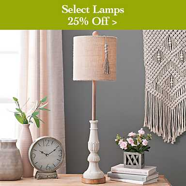 25% off Select Lamps