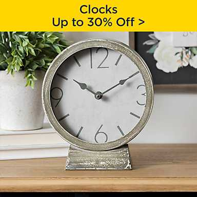 up to 30% off Clocks