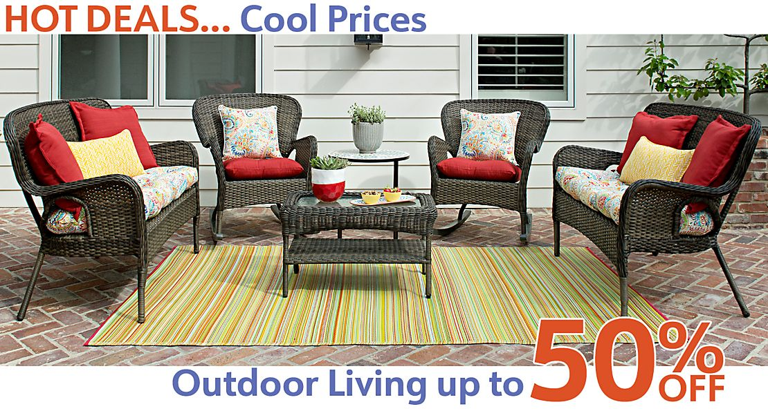 Hot Deals... Cool Prices -  Outdoor Decor Now Up to 50% Off!  - Shop Now