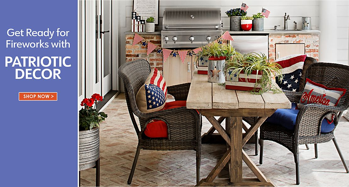 Get Ready for Fireworks with Patriotic Decor - Shop Now