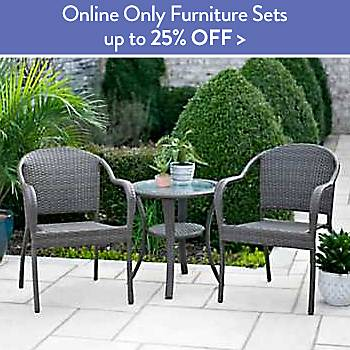 Up to 25% off Online Only Furniture Sets