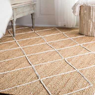 White Diamond Jute Area Rug