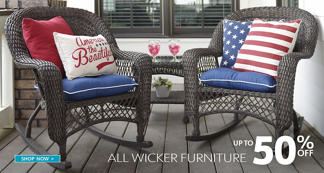 Up to 50% Off All Wicker Furniture - Shop Now