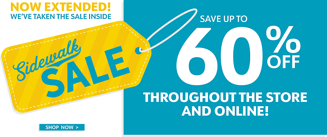 Save Up To 60% Off   In Store And