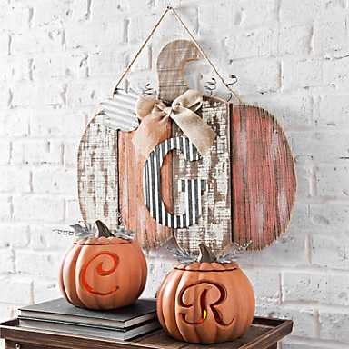 monogram harvest decor