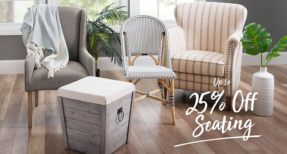 Up to 25% off Seating - Shop Now