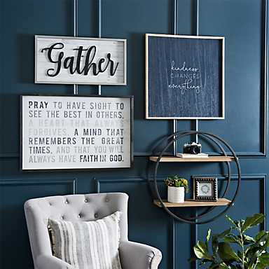 Decorations for the modern farmhouse wall look