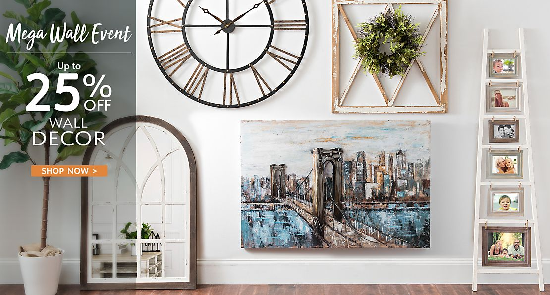 Mega Wall Event - Up to 25% off Wall Decor - Shop Now