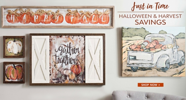 Up to 25% Off Halloween & Harvest Decor - Shop Now