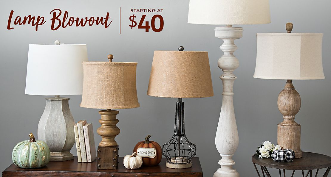 Lamp Blowout Starting at $40 - Shop Now